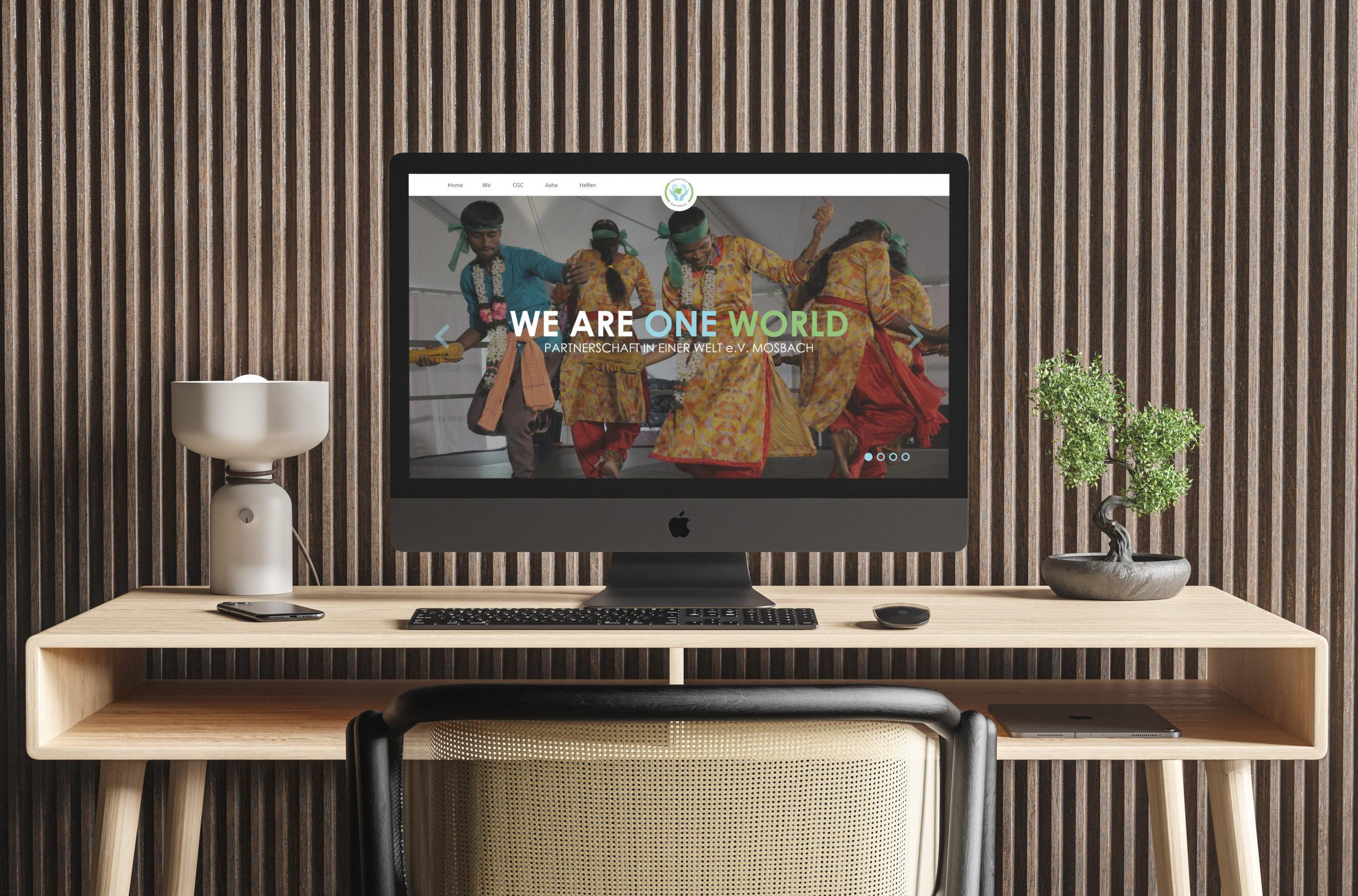 Website Partnerschaft in einer Welt e.V.